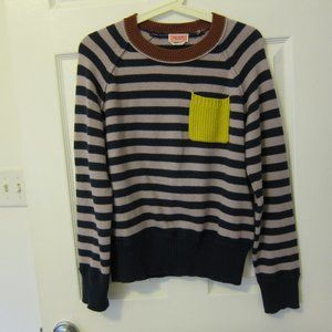 Kate Spade Colorblock Stripe Sweater L EUC